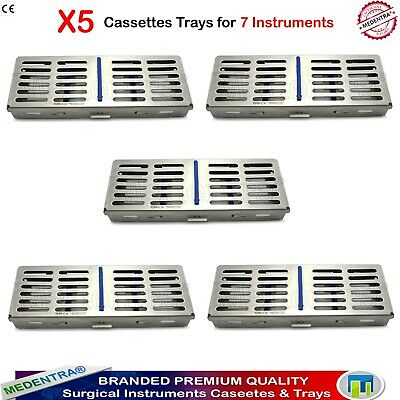 Pack of 5 Stainless Wire Mesh Trays Tools / Instruments Sterilization Cassettes