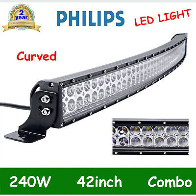 """42inch 540W Curved LED Light Bar TRI-ROW Combo Off road Fog Driving 7D PK 40/44"""""""