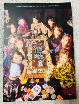 TWICE [YES or YES] Album Autograph ALL MEMBER Signed PROMO ALBUM KPOP (11/20)