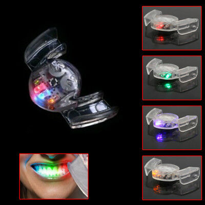 1x LED Light Mouth Guard Mouthpiece Flashing Piece Mouthguard For Party Club