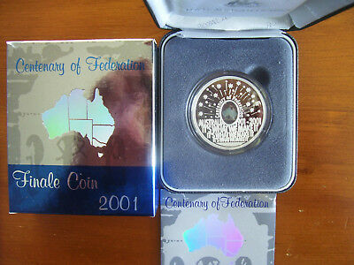 "2001 $5 Silver Proof Finale Coin: ""Centenary of Federation."""