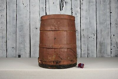 Antique wooden barrel / Vintage rustic storage keg