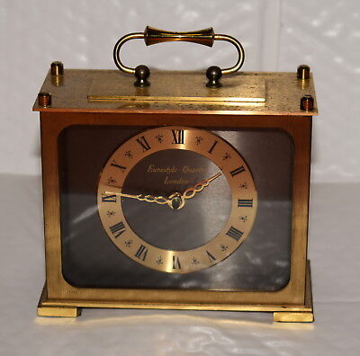 Eurastyle London Brass Carriage Clock - free UK postage