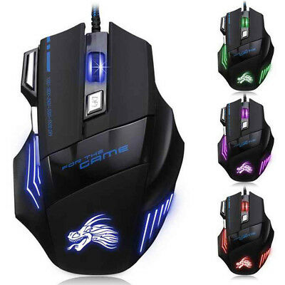 5500DPI LED Optical USB Wired Gaming Mouse Gamer Mice for PC Laptop Computer