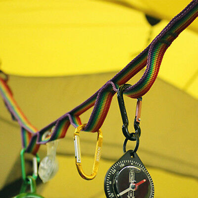 Outdoor Camping Hiking Accessories Colorful Hang Lanyard Tent Rope Cord