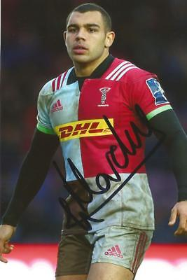 HARLEQUINS RUGBY UNION: JOE MARCHANT SIGNED 6x4 ACTION PHOTO+COA