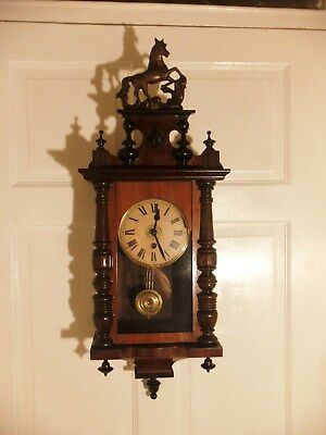 Small Antique Vienna Stlye Wall Clock