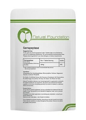 Serrapeptase 80,000iu Tablets High Strength Anti Inflammatory Pain Reduction