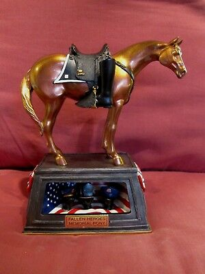 Stunning Horse Figurine The Trail Of Painted Ponies Fallen Heroes Memorial Pony