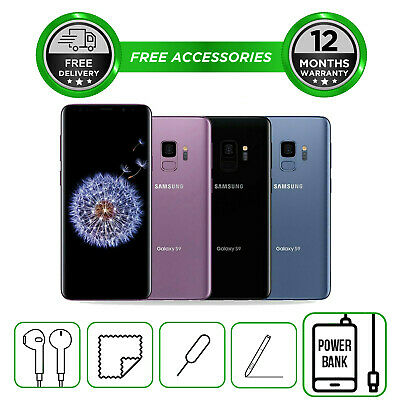 Samsung Galaxy S9 PLUS + 64GB SM-G965 All Colours Unlocked Smartphone