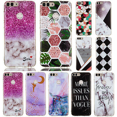 For Huawei P Smart Plus, Nova 3i Slim Soft Silicone Clear Painted TPU Case Cover