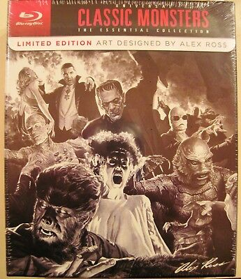 Universal Classic Monsters:(8 Blu-Rays)The Essential Collection [Alex Ross Art]
