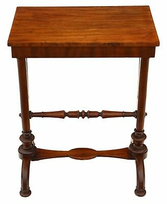Antique William IV C1830 - 40 mahogany lyre stretcher table side wine