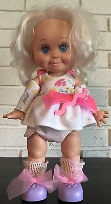 1990 Galoob Baby Face Doll #1 So Sweet Sandi Original Clothes Shoes