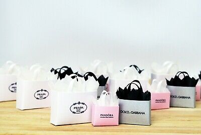 Dolls House Miniature Luxury Shopping Bags Jewellery Cake Easter Egg Milk Sweets
