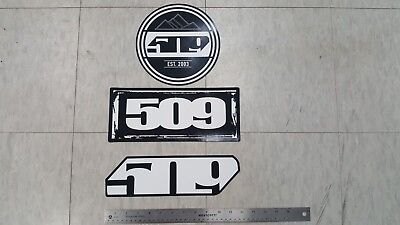 509 Snowmobile Logo (3) Three Decal / Sticker Lot  - New