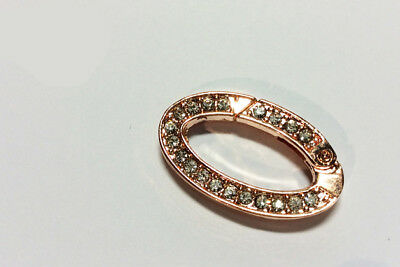 Ring Karabiner Strass oval #8084 rose