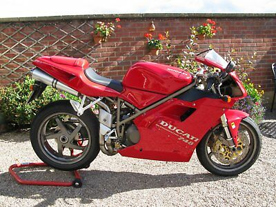 classic motorcycle Ducati 748 Biposto 1998 Red