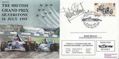 JS(CC)7a Isle of Man British Grand Prix Silverstone Signed by Jackie Stewart