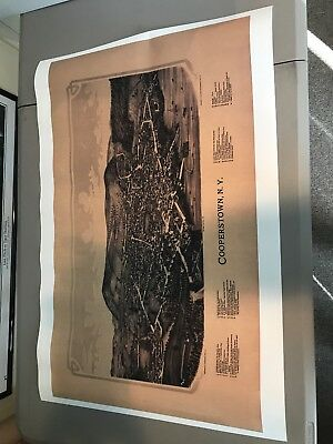 24X36 Vintage Reproduction Map Cooperstown New York Otsego County 1890. New