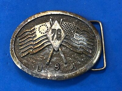 DIFFERENT,    Vintage Belt Buckle Americas Bicentennial Celebration by Wyoming