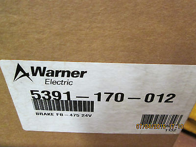 Warner electric brake fb-475 24v 5391-170-012