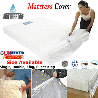 King Size Heavy Duty Bed Mattress Plastic Cover Storage Bag Dust Protector Sheet