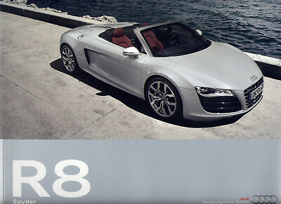 Catalogue prospekt brochure Audi R8 Spyder 09.2009