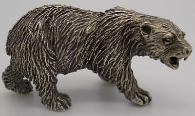 74g/2.6oz. Vintage Solid Silver 60s Italian Made Bear Figurine, Stamped