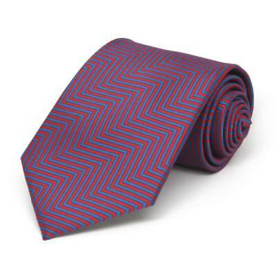 TieMart Boys' Red Kimberly Chevron Stripe Necktie