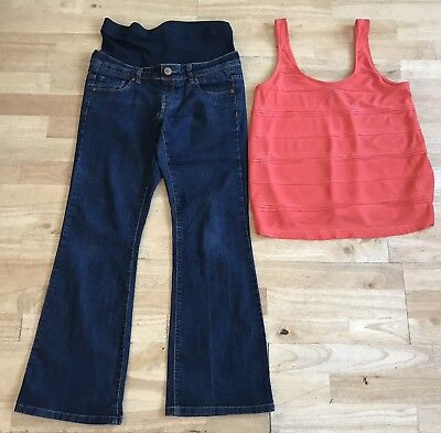 Maternity bundle size 8 topshop orange top new look bootcut jeans