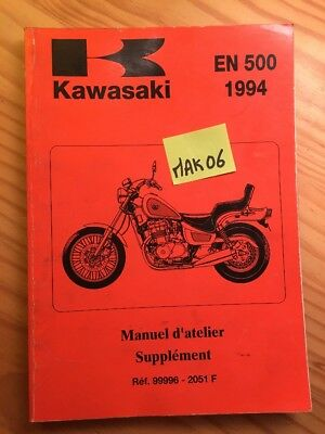 Kawasaki EN500 Vulcan EN 500 B1 1994 supplement revue moto technique manuel
