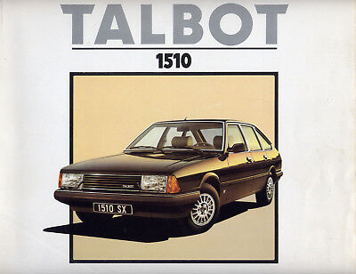 Catalogue prospekt brochure Simca Talbot 1510 1980 lot de 2