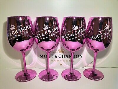 Moet Chandon Pink Ice Imperial Champagner Limited Ibiza Edition Neu 4 Stück