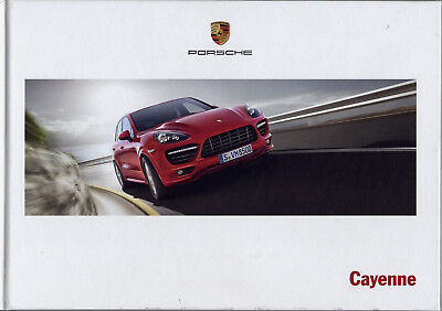 Catalogue prospekt brochure Porsche Cayenne 06.2012