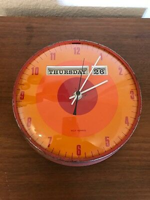 Mid Century Holt Howard 1970's Day Date Clock