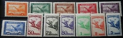 Hungary - Air Mail  Aviation 1927 - 1929 Mi: 430 - 437 + 467 - 470 Mnh