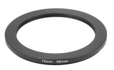 72mm To 58mm 72-58mm 72 To 58 Metal Step Down Rings Lens Stepping Adapter Filter