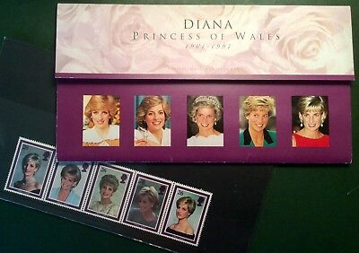 Beautiful Set Of Stamps Celebrating The Life Of Diana, Princess Of Wales. Mint.