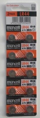 10 x MAXELL LR44 A76 Alkaline Batteries R357 303 SR44W EPX76 A76 1.5V