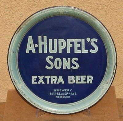 A. Hupfel's Sons Manhattan, New York Pre-Prohibition Beer Tray NYC 161st St.