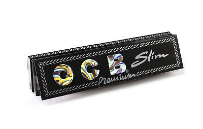 5x Packs OCB Premium Black King Size Slim ( 32 Papers Each Pack ) Ultra Thin