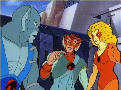 Thundercats 1985 Rankin Bass animation production cel Panthro, Tygra & Cheetara