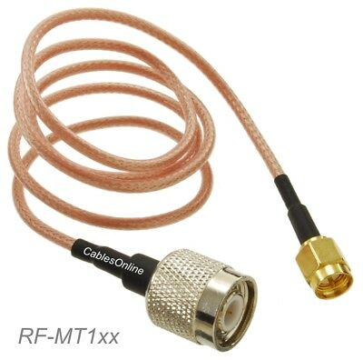 SMA Male to TNC Male 50-Ohm RG316 Coax Low Loss Jumper RF Cable