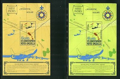 Weeda St.Kitts-Nevis #294-295, St. Kitts #126a, St. Vincent #2854/3136 CV $20.75