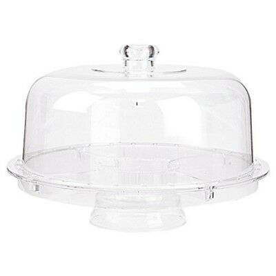 Acrylic Cake Stand Multifunctional Serving Platter and Cake Plate With Dome