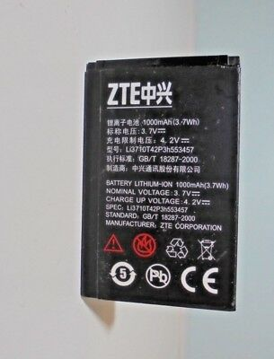 Lithium Ion Battery  3.7v 1000mAh(3.Wh ) 35mm  X  55mm.....