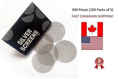 """500 Pipe Screens Steel Silver Tobacco Smoking 3/4"""" 20mm BEST PRICES FROM CANADA"""