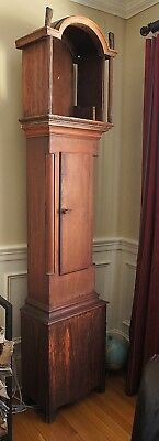 RARE FIND c1825 Grain Painted Tall Clock Case Grandfather Clock Case