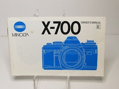 Minolta X-700 Owners Manual Only No Camera
